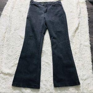 NYDJ Bootcut Dark Wash Jeans with Rhinestones 12P